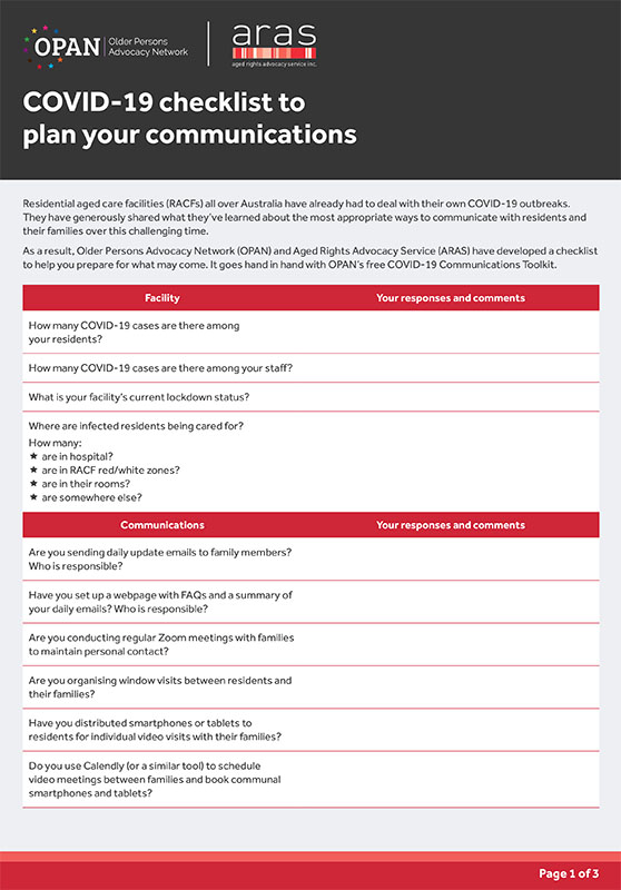 COVID-19 checklist to plan your communication